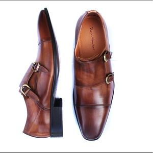 Rich Mbariket Genuine Leather Double Monk Shoes